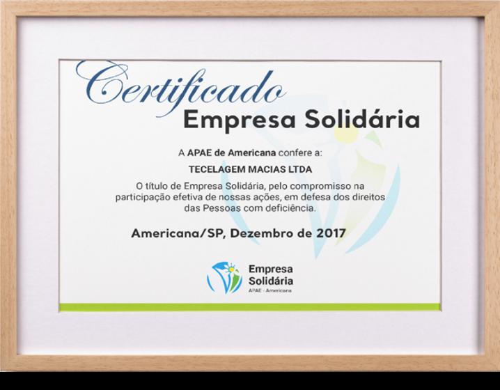 Certificado Empresa Solidária
